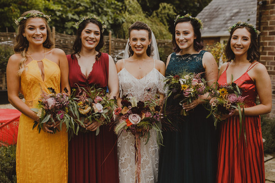 Autumn wedding colour scheme
