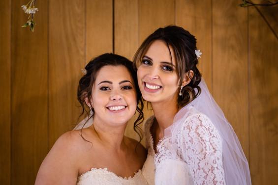 Same sex couple wedding hair and makeup