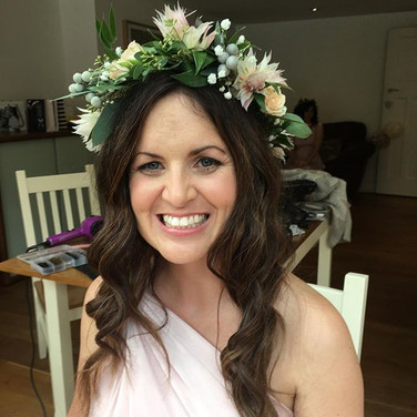 Summer flowers hair and makeup