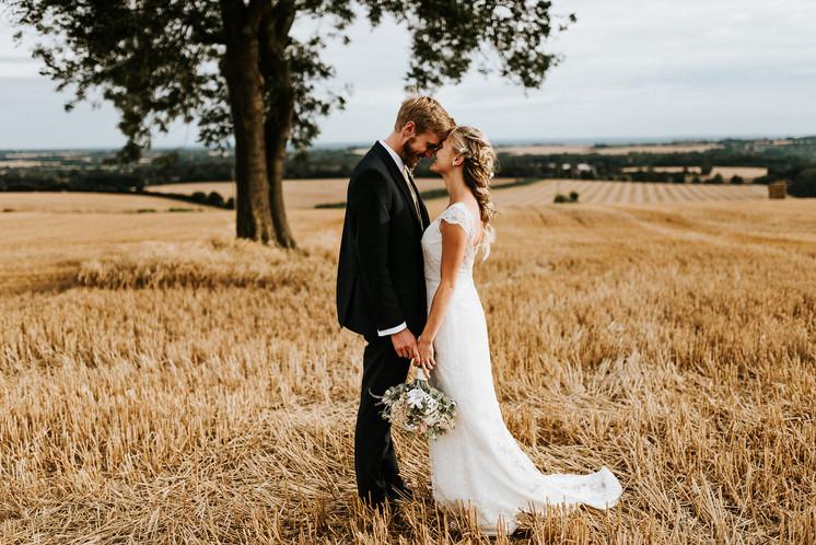 Romantic wedding hair and makeup