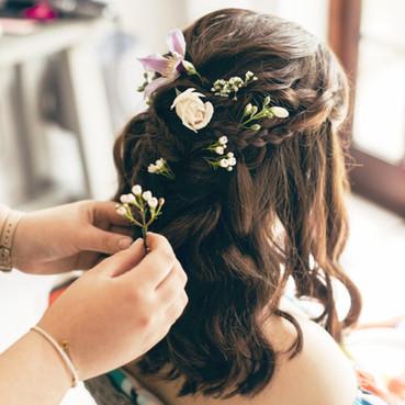 Boho Flowers hair