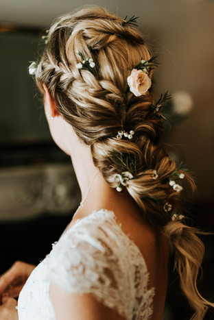 Boho Mermaid Braid Wedding Hair