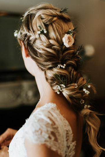 Boho Mermaid Braid Wedding Hair