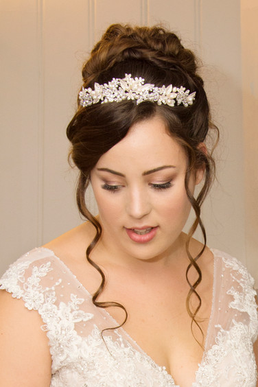 Glam Wedding Hair and Makeup