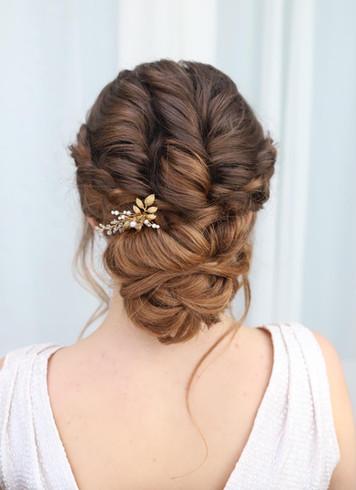 Modern Textured Wedding Hairstyle