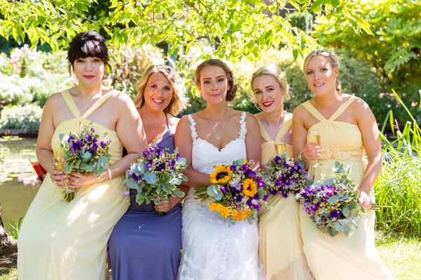 Bride tribe Wedding hair and makeup