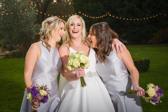 Bride and bridesmaids hair and makeup