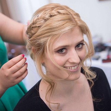 Updo with plait