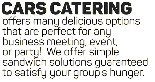 CARS Sandwiches & Shakes Catering Menu Caterng Near Me Cool Catering ideas post-wedding parties post-wedding catering ideas nj ny new jersey new york corporate catering fun ideas