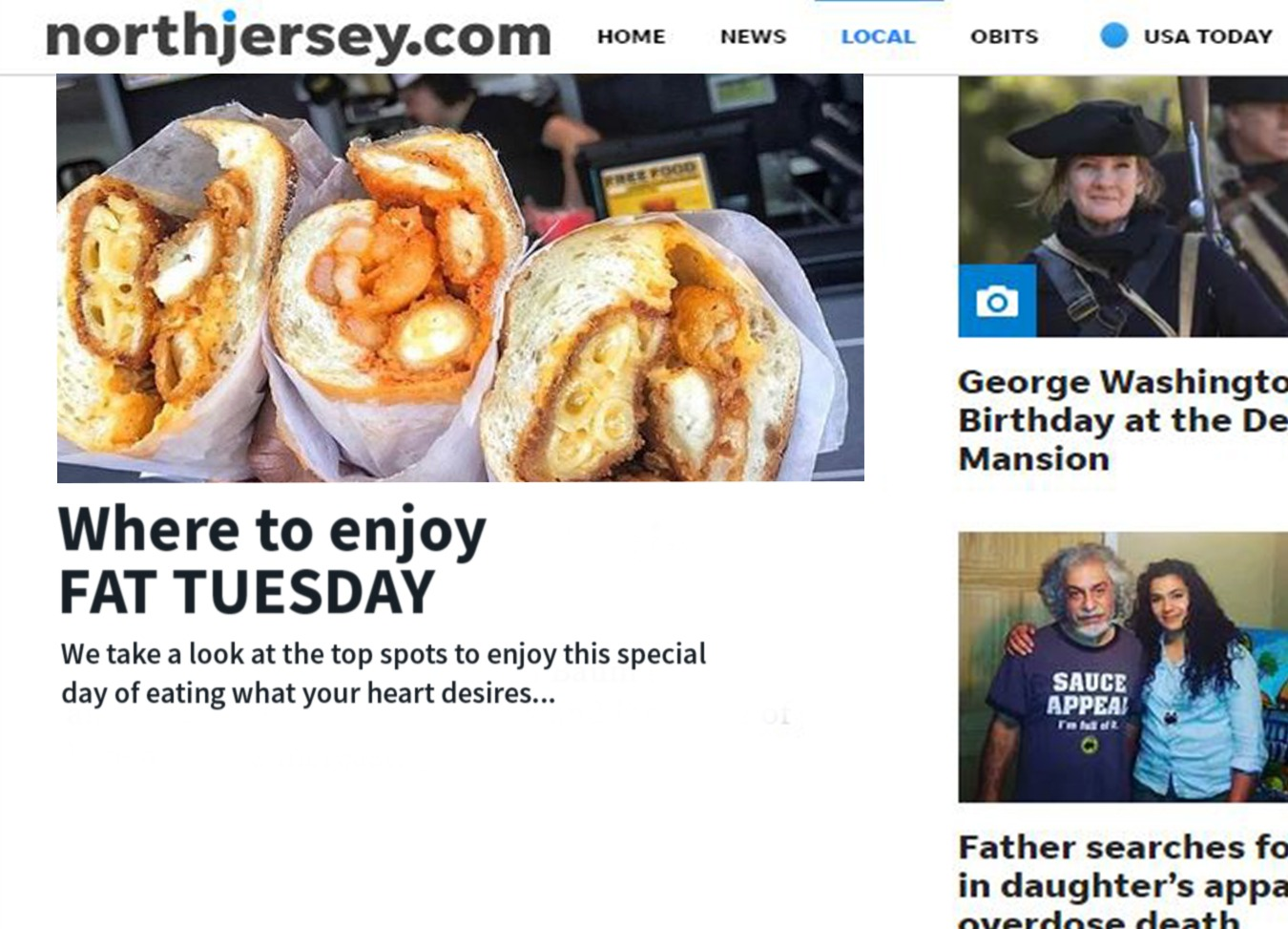 NorthJersey.com Fat Tuesday Article!