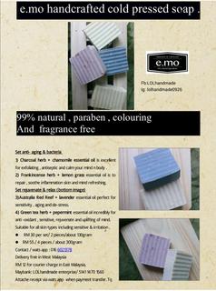 e.mo handcrafted cold pressed soap