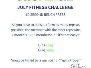 July 'Proper Fitness Challenge'