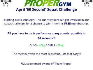 April 'Proper Fitness Challenge'