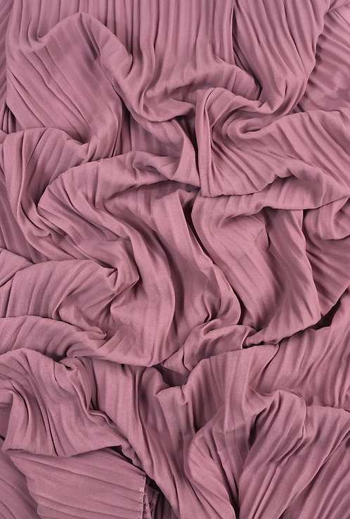 Pleated Crepe Chiffon | Mauve