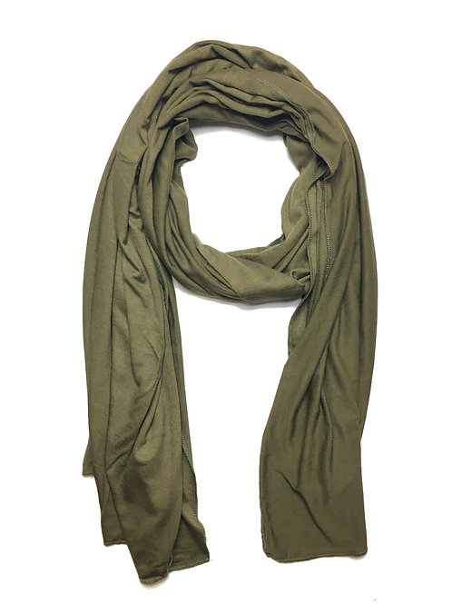 Olive Green Jersey Hijab