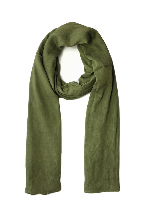 Crinkle Modal | Olive Green