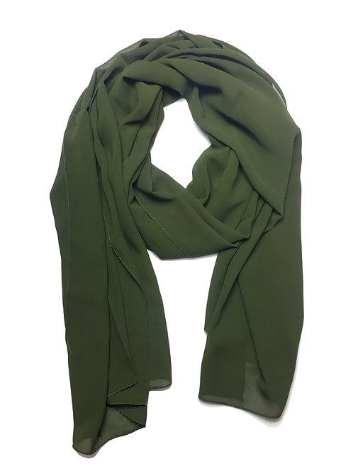 Premium Chiffon | Army Green
