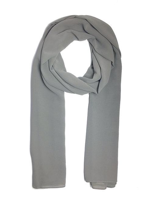 Crépe Chiffon | Metal Grey