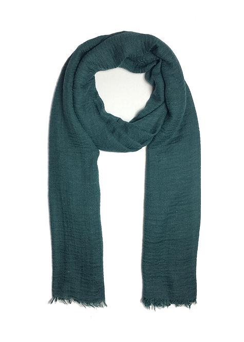 Crinkle Hijab   Teal Green