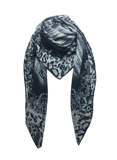 Printed Chiffon | Grey Leopard