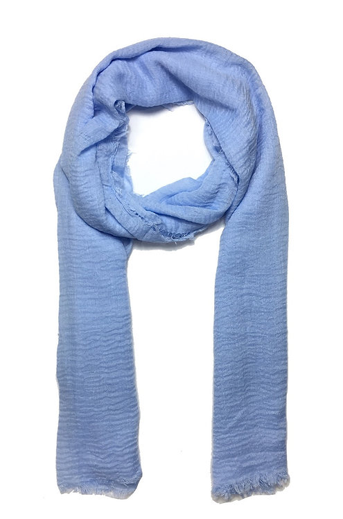 Crinkle Hijab | Misty Blue