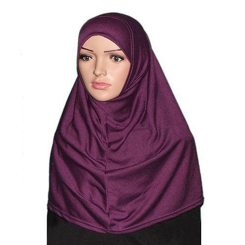 Plain Cotton Two Piece Hijab