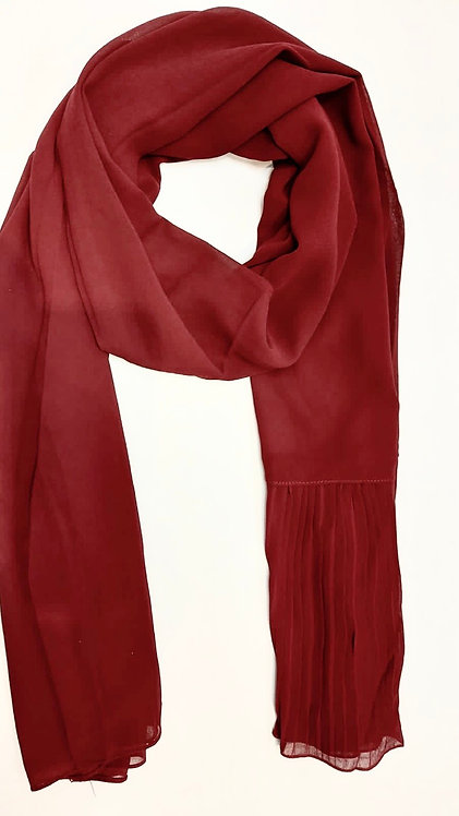 Pleated Wing Chiffon | Red