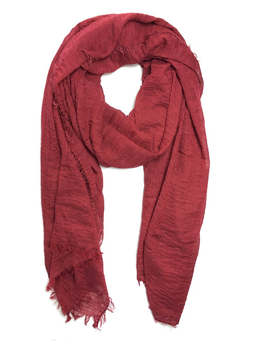 Crinkle Hijab | Cherry Red