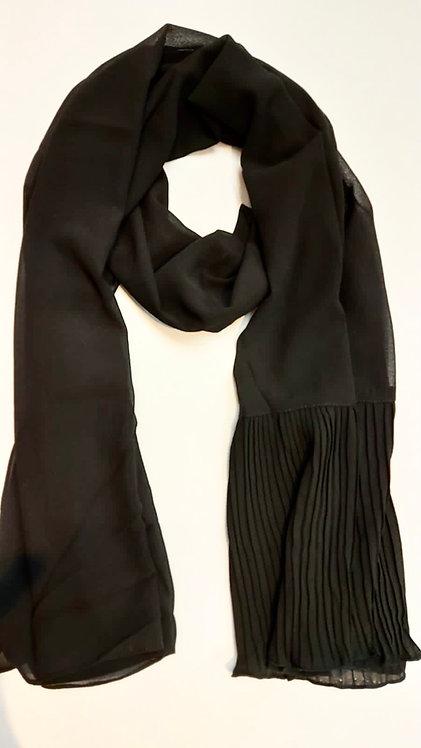 Pleated Wing Chiffon | Black