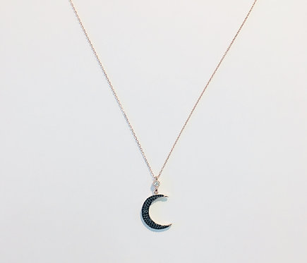 Dainty Necklace | Midnight Crescent