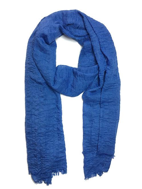 Crinkle Hijab | Ocean Blue