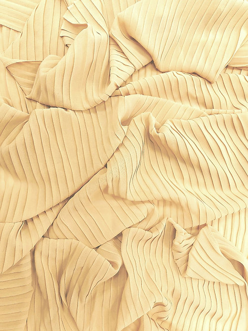Pleated Crepe Chiffon |Light beige