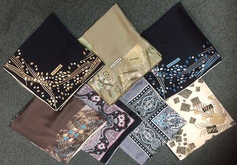 Printed Silk Square Hijab