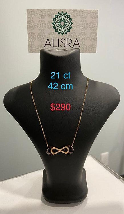 21K Gold Necklace | Infinity Shape