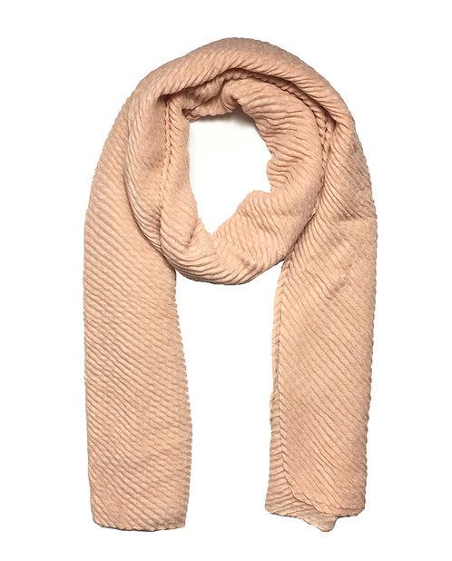 Ripple Hijab | Soft Peach