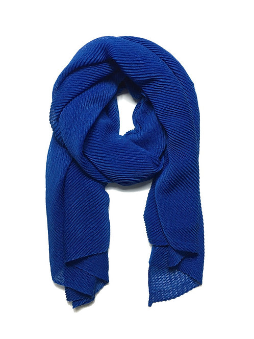 Ripple Hijab | Royal Blue
