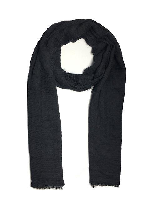 Crinkle Hijab | Black