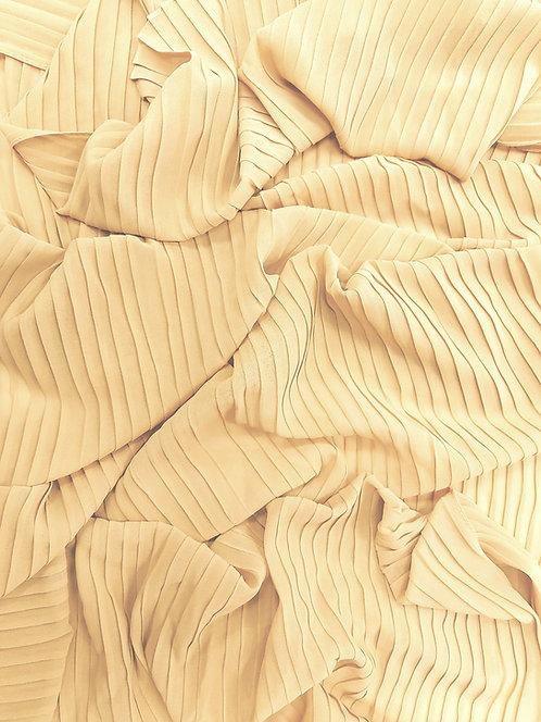 Pleated Crepe Chiffon| light beige