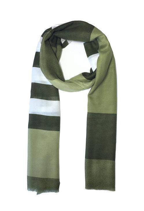 Striped Cotton | Olive Mix