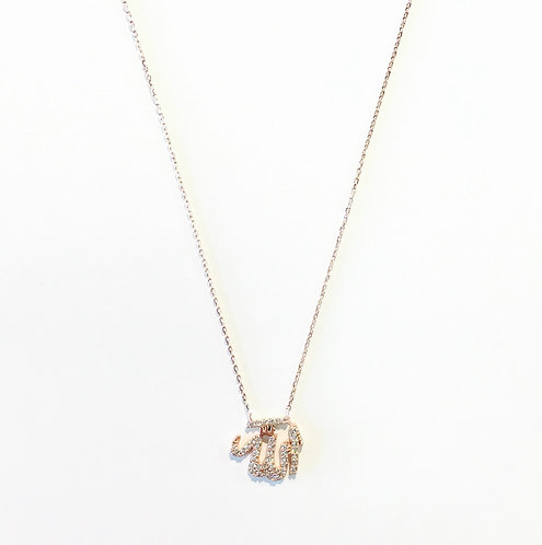 Dainty Necklace | Rose Gold Allah