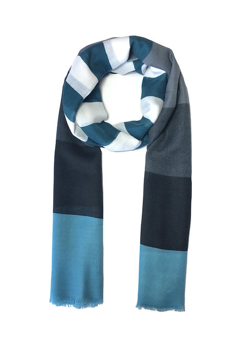 Striped Cotton   Teal Mix