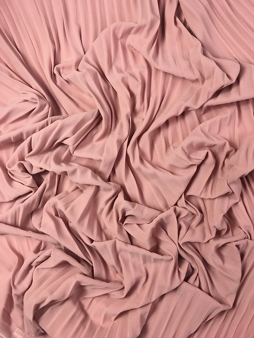 Pleated Crepe Chiffon | Pink