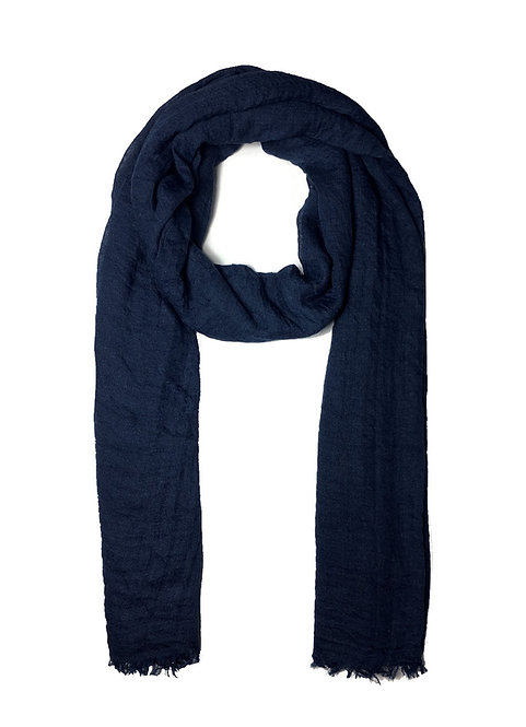 Crinkle Hijab | Navy Blue