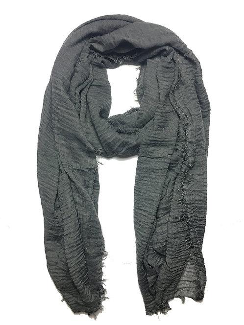 Crinkle Hijab | Charcoal