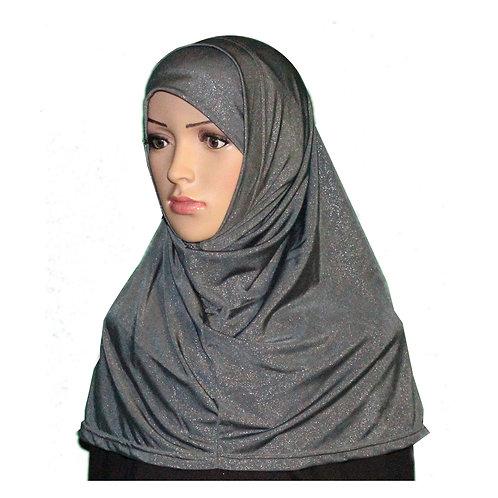 Glittery Lycra Two Piece Hijab