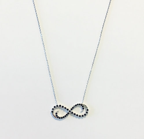 Dainty Necklace | Black Infinity