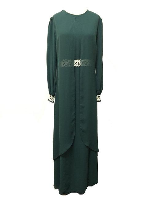 Royal Green Dress