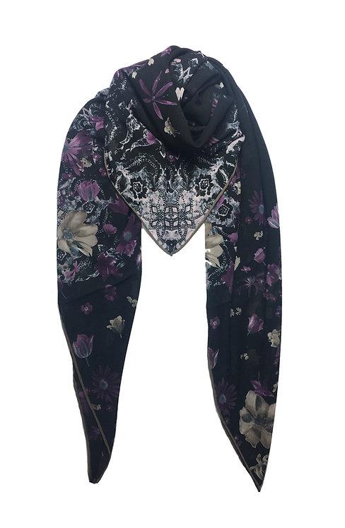 Printed Chiffon | Purple Daisy