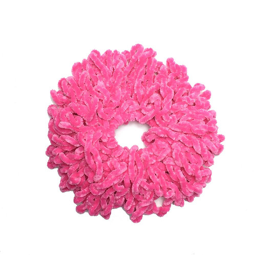 Volumizing Scrunchie   Hot Pink