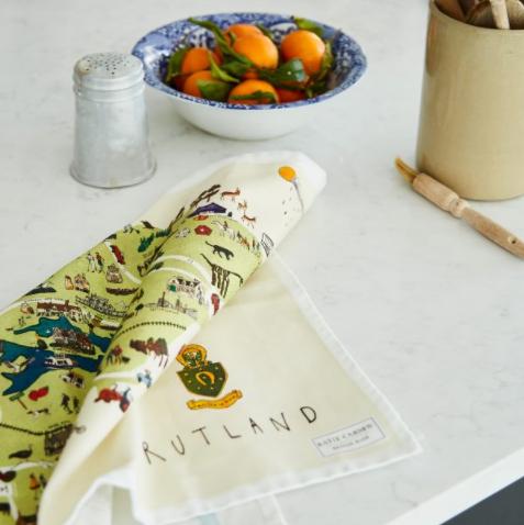 "Katie Cardew ""Rutland Map"" Tea Towel"